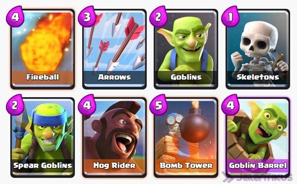 Battle Deck Goblin Barrel Clash Royale 11
