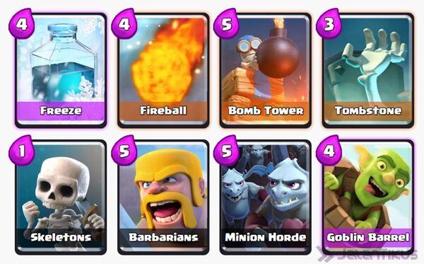 Battle Deck Goblin Barrel Clash Royale 13