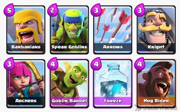 Battle Deck Goblin Barrel Clash Royale 15