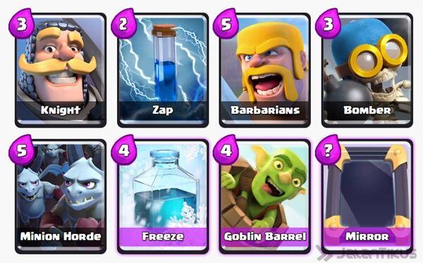 Battle Deck Goblin Barrel Clash Royale 18