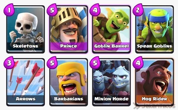 Battle Deck Goblin Barrel Clash Royale 25