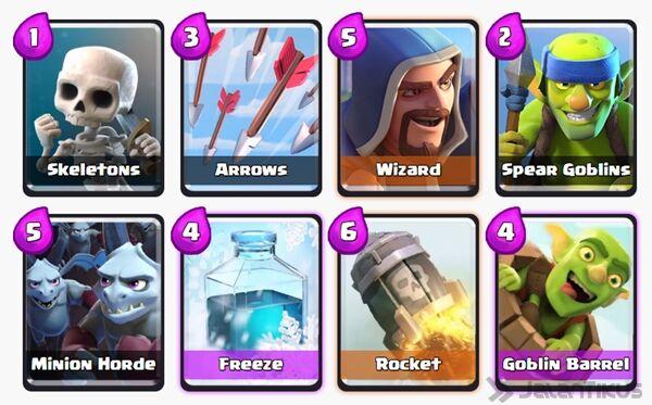 Battle Deck Goblin Barrel Clash Royale 26