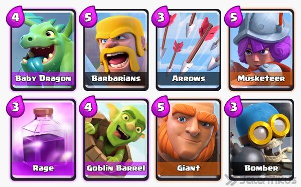 Battle Deck Goblin Barrel Clash Royale 27