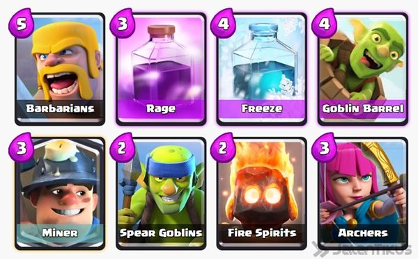 Battle Deck Goblin Barrel Clash Royale 28