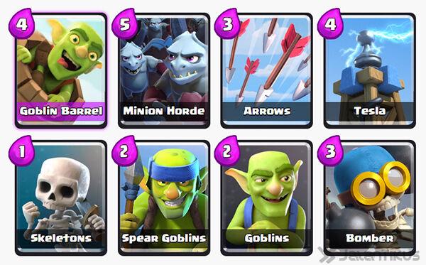 Battle Deck Goblin Barrel Clash Royale 30