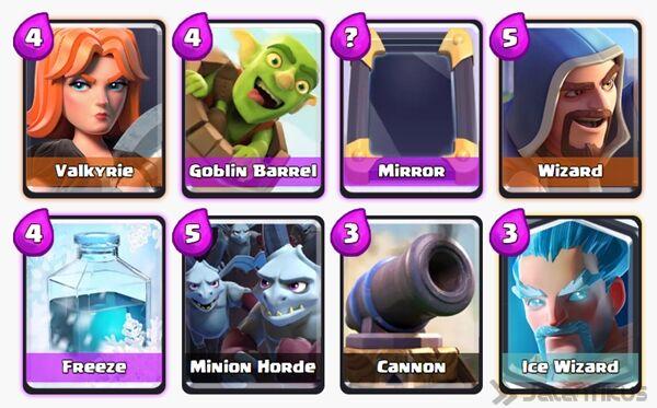 Battle Deck Goblin Barrel Clash Royale 6