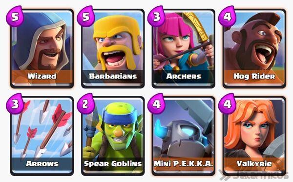 Battle Deck Archers Clash Royale 15