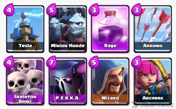 Battle Deck Wizard Clash Royale 18
