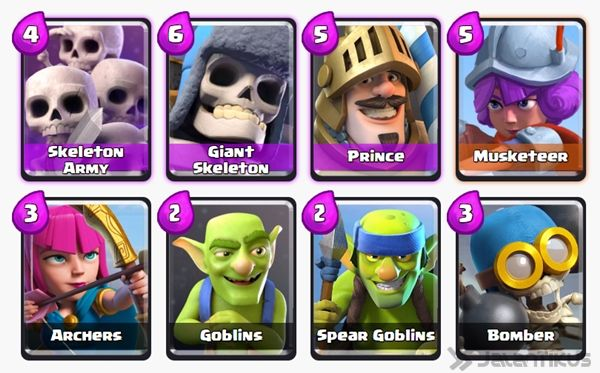 Battle Deck Skeleton Army Clash Royale 11
