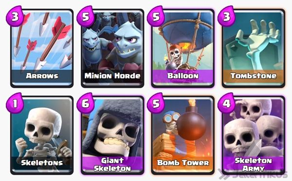 Battle Deck Skeleton Army Clash Royale 12