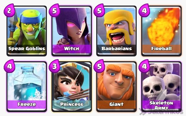 Battle Deck Skeleton Army Clash Royale 13