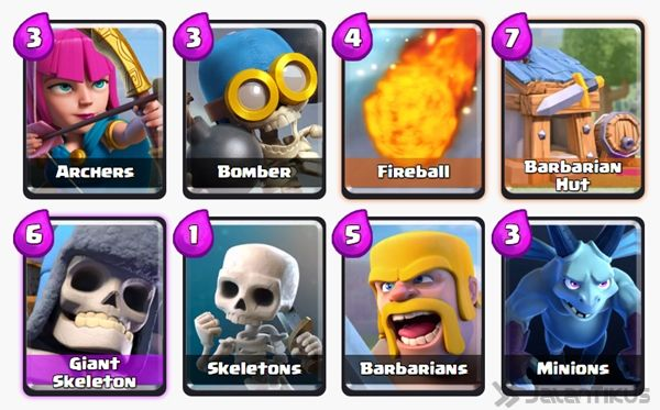 Battle Deck Skeleton Army Clash Royale 14
