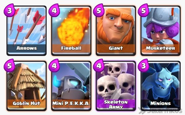 Battle Deck Skeleton Army Clash Royale 2