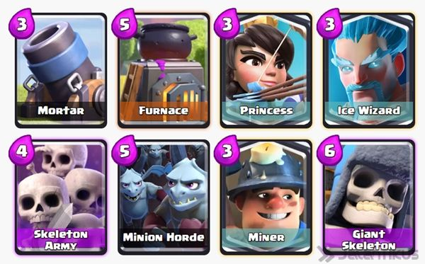 Battle Deck Skeleton Army Clash Royale 21