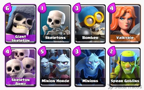 Battle Deck Skeleton Army Clash Royale 22