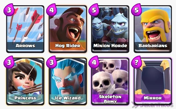 Battle Deck Skeleton Army Clash Royale 23