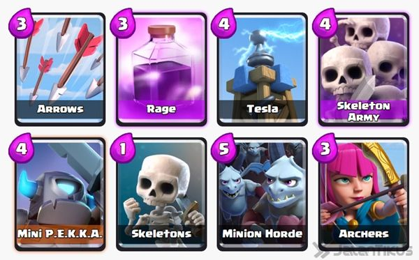 Battle Deck Skeleton Army Clash Royale 25