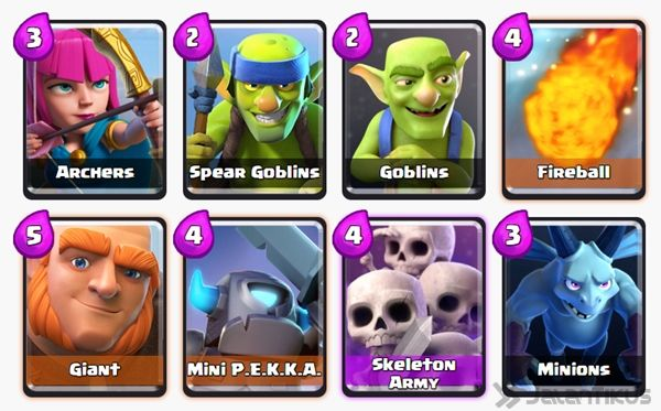 Battle Deck Skeleton Army Clash Royale 5