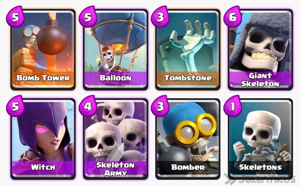 Battle Deck Skeleton Army Clash Royale 6