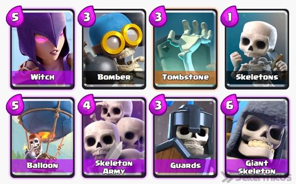 Battle Deck Skeleton Army Clash Royale 7