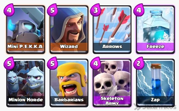 Battle Deck Skeleton Army Clash Royale 8