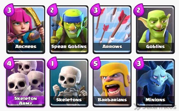 Battle Deck Barbarians Clash Royale 10