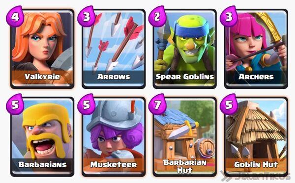 Battle Deck Barbarians Clash Royale 13