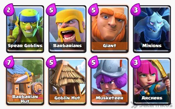 Battle Deck Barbarians Clash Royale 14