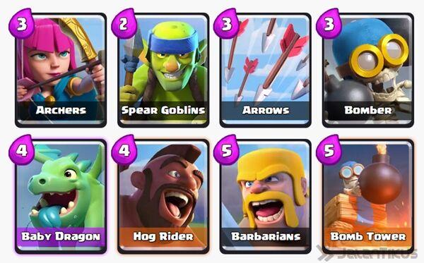 Battle Deck Barbarians Clash Royale 15