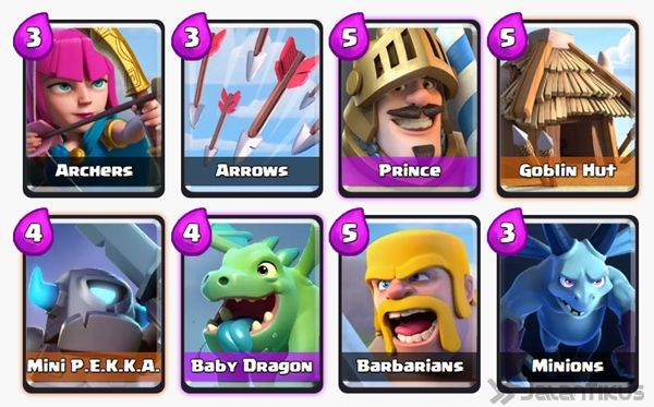 Battle Deck Barbarians Clash Royale 16