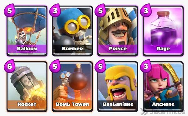 Battle Deck Barbarians Clash Royale 17