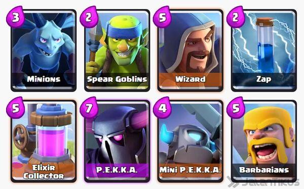 Battle Deck Barbarians Clash Royale 27