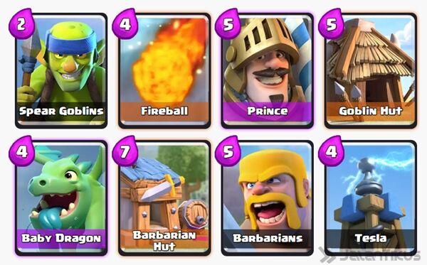 Battle Deck Barbarians Clash Royale 4