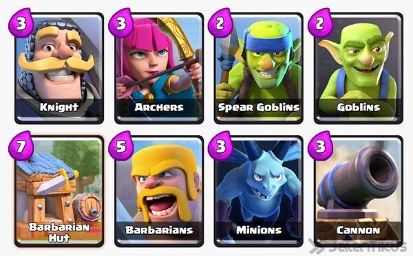 Battle Deck Barbarians Clash Royale 5