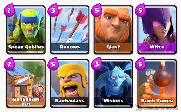 Battle Deck Barbarians Clash Royale 9