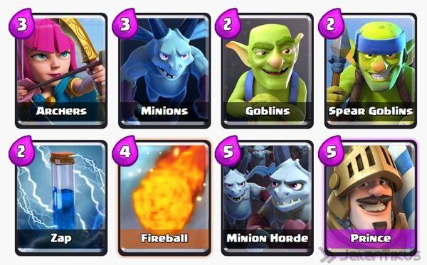 Battle Deck Minion Horde Clash Royale 13