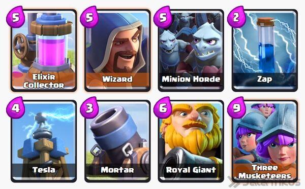 Battle Deck Minion Horde Clash Royale 19