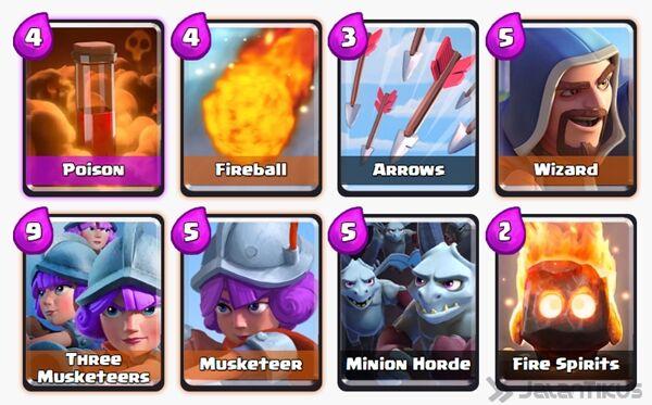 Battle Deck Minion Horde Clash Royale 25