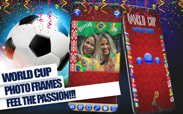 World Cup 2018 Football Photo Frames Stickers 1 628e7