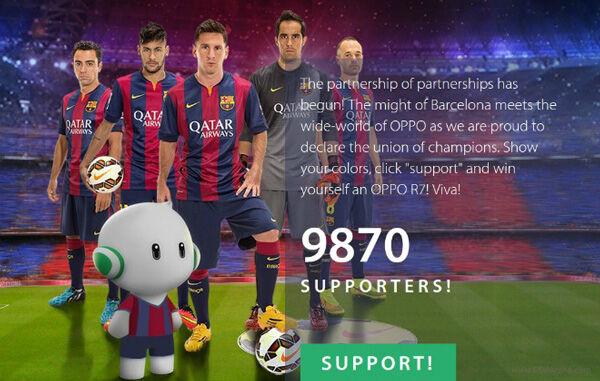 Gratis Oppo R7 Fans Barcelona Fc