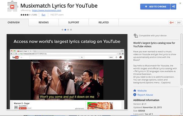 Cara Menampilkan Lirik Di Youtube 3