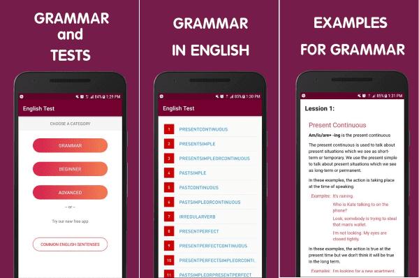English Grammar Test 6 E1365