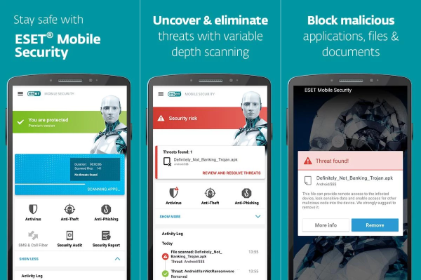 Eset Mobile Antivirus Security Android 1