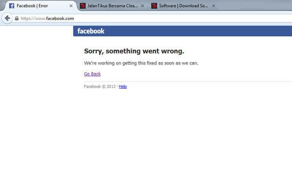 Facebook Tidak Dapat Diakses