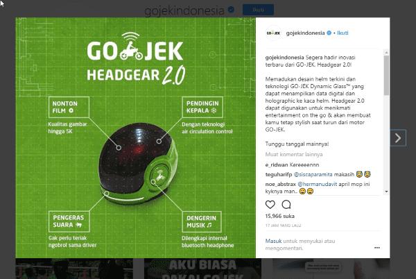 Lelucon Perusahaan Tekno Logi Saat April MOP Gojek 22368