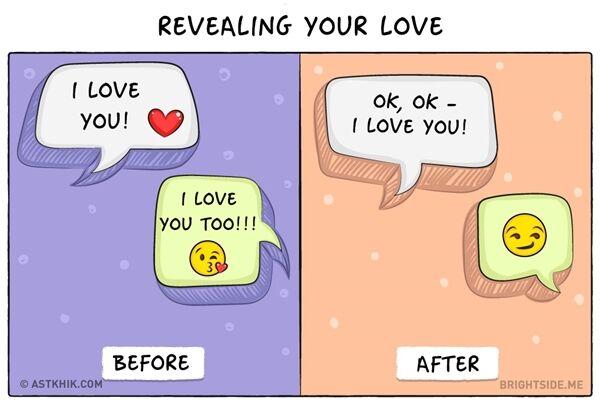 Ilustrasi Pasangan Sebelum Dan Sesudah Menikah 9