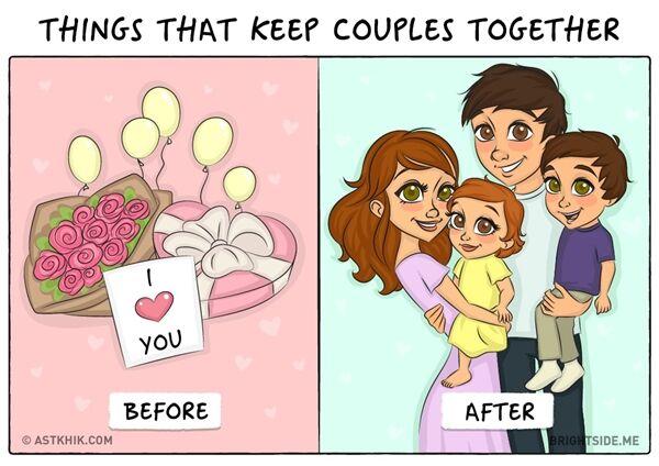 Ilustrasi Pasangan Sebelum Dan Sesudah Menikah 5a