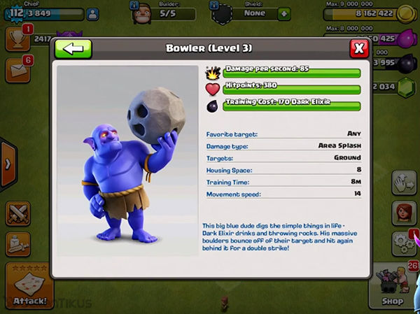 Bowler Clash Of Clans 3