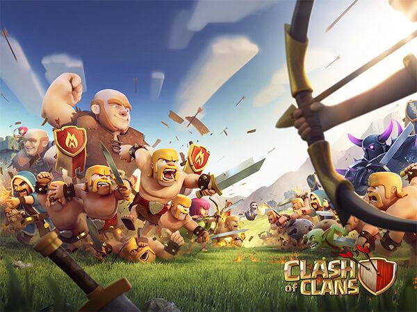 Clash Of Clans Vs Line Lets Get Rich 1