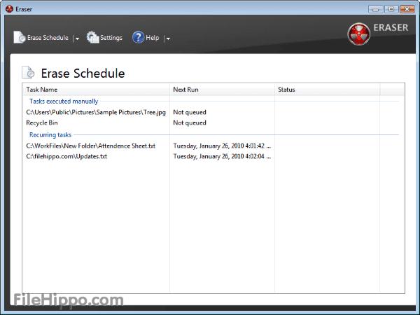 Eraser Delete File Permanent 1
